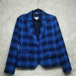 Blue plaid blazer